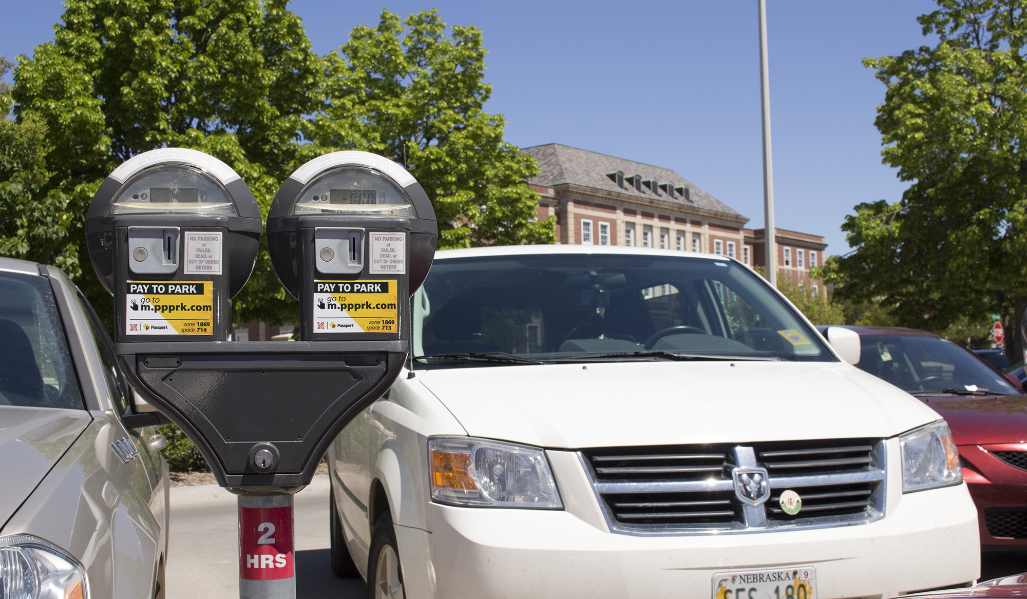 parking meters for short term on campus parking